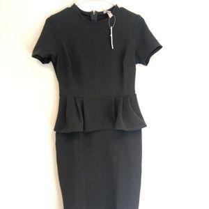 NWT ASOS Midi Body Con Peplum Dress